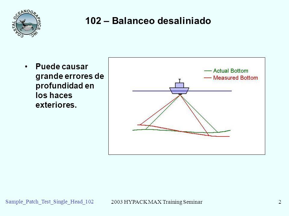 102 – Balanceo desaliniado