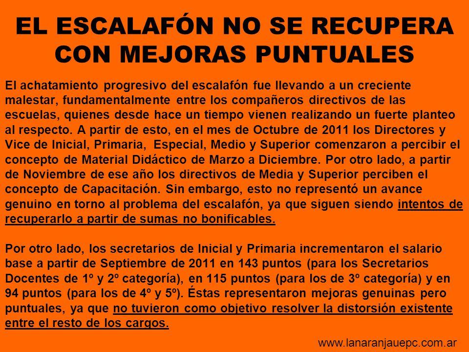 EL ESCALAFÓN NO SE RECUPERA CON MEJORAS PUNTUALES