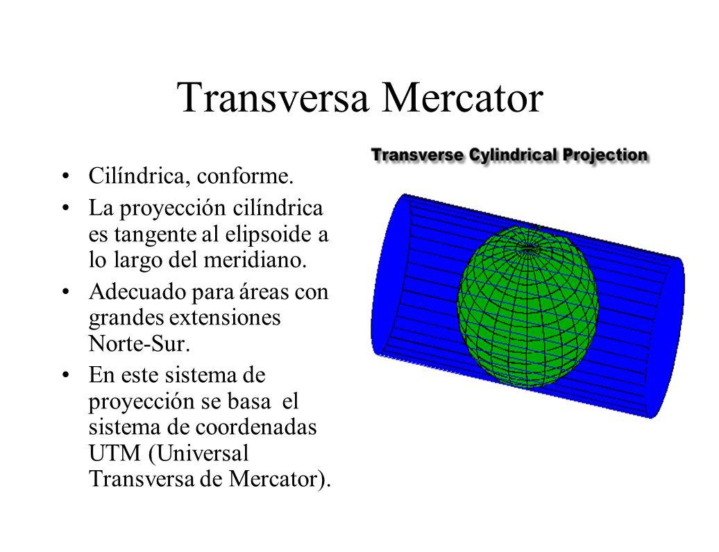 Transversa Mercator Cilíndrica, conforme.