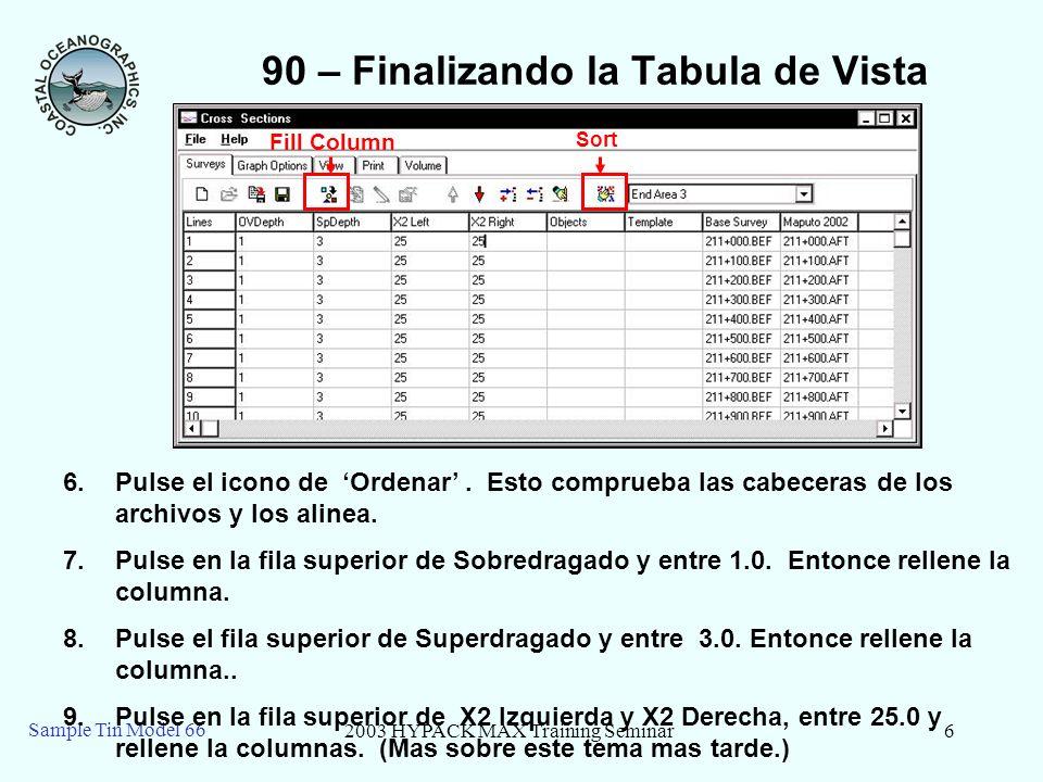 90 – Finalizando la Tabula de Vista