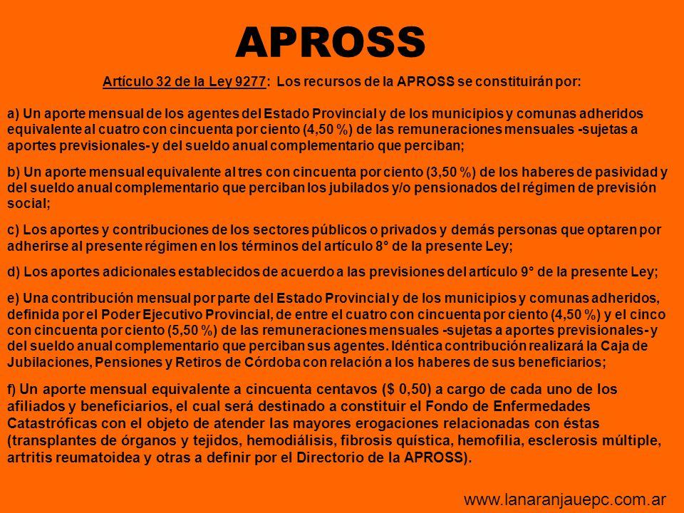 APROSS www.lanaranjauepc.com.ar