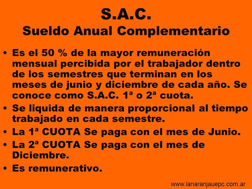 S.A.C. Sueldo Anual Complementario