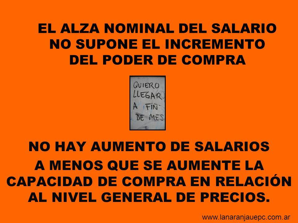NO HAY AUMENTO DE SALARIOS