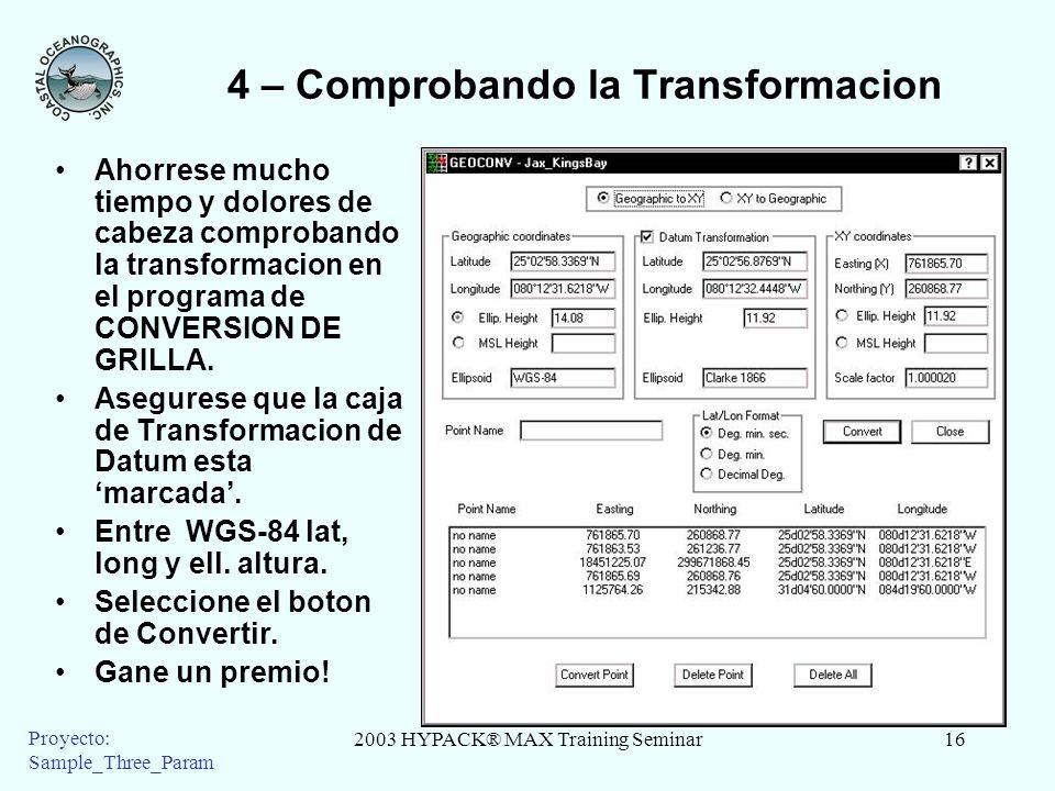 4 – Comprobando la Transformacion