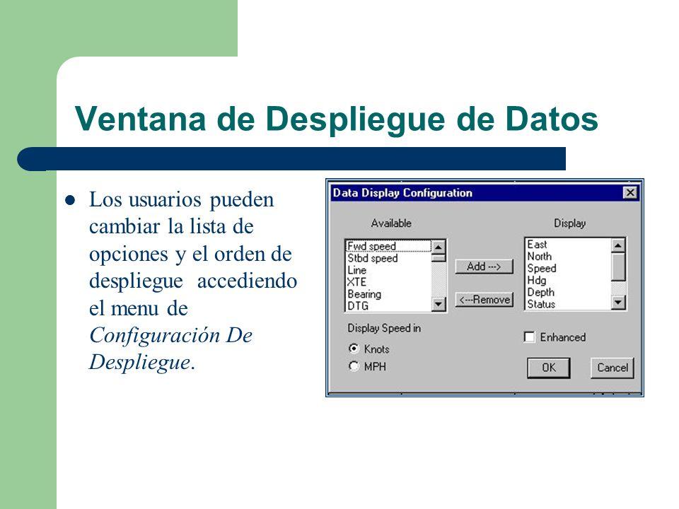 Ventana de Despliegue de Datos