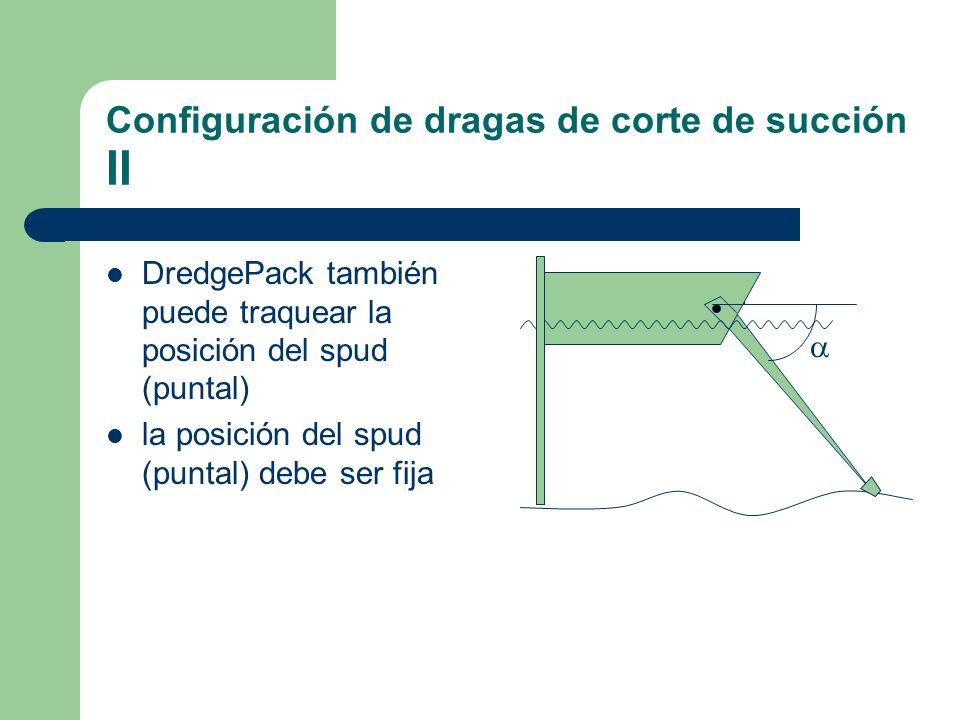Configuración de dragas de corte de succión II