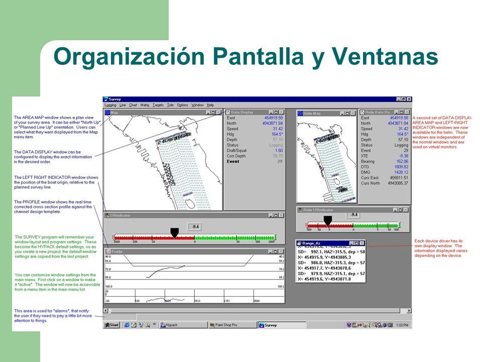 Organización Pantalla y Ventanas