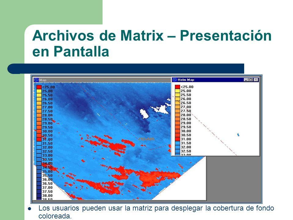 Archivos de Matrix – Presentación en Pantalla