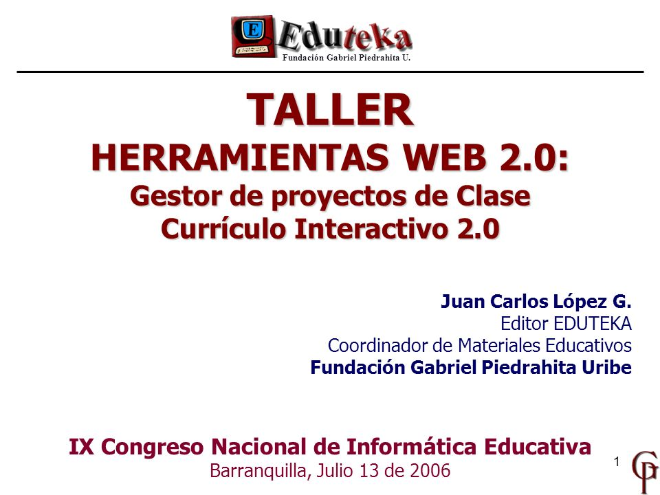 TALLER HERRAMIENTAS WEB 2.0: Gestor de proyectos de Clase