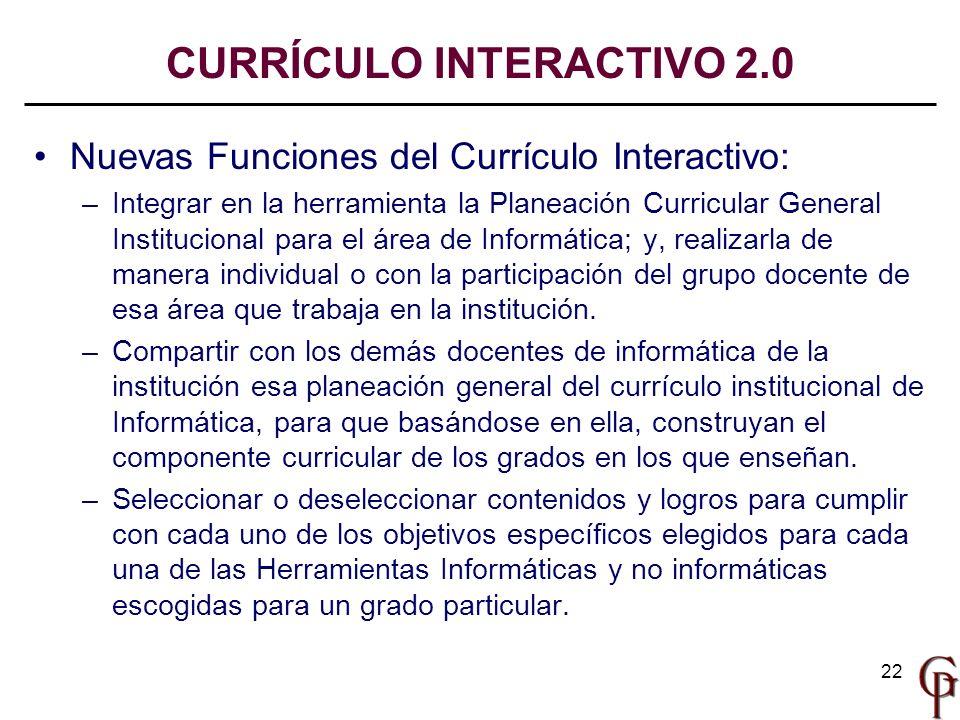 CURRÍCULO INTERACTIVO 2.0