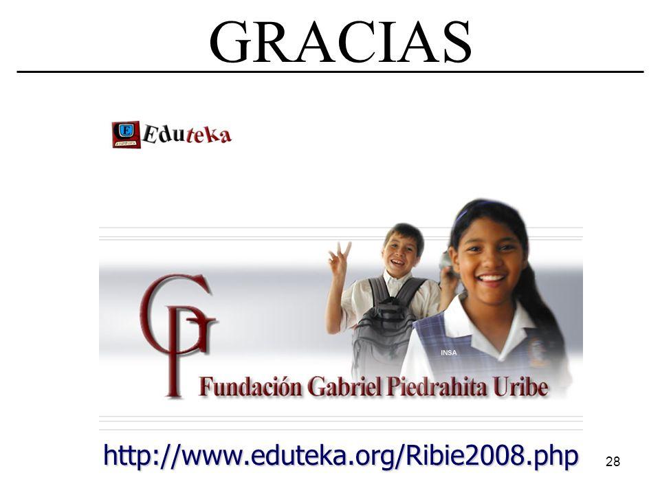 GRACIAS http://www.eduteka.org/Ribie2008.php