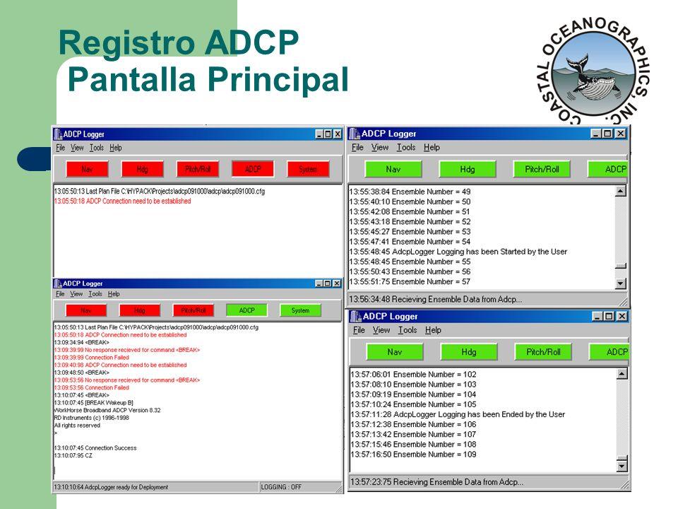 Registro ADCP Pantalla Principal