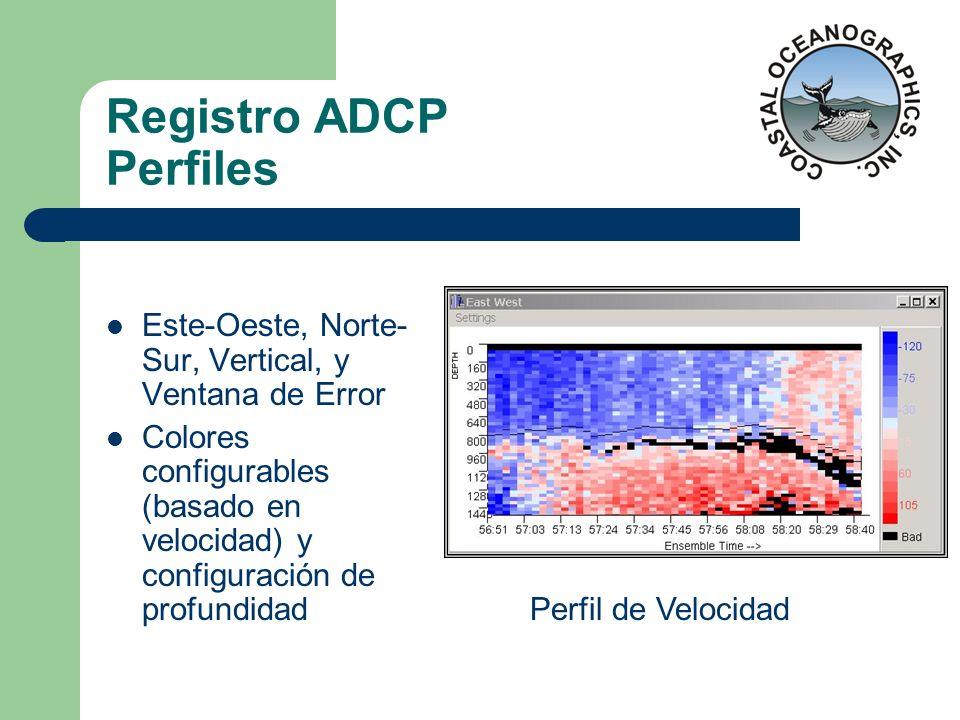 Registro ADCP Perfiles