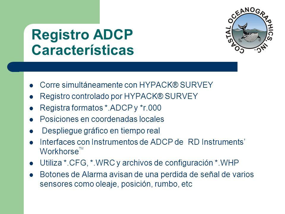 Registro ADCP Características