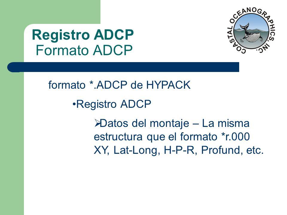 Registro ADCP Formato ADCP