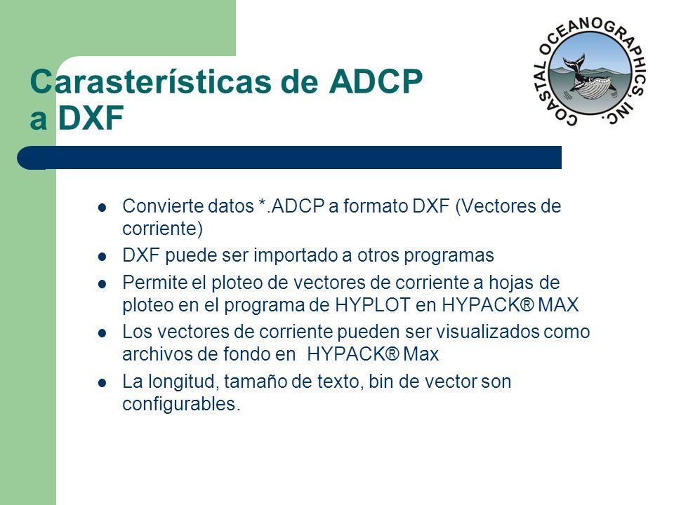Carasterísticas de ADCP a DXF