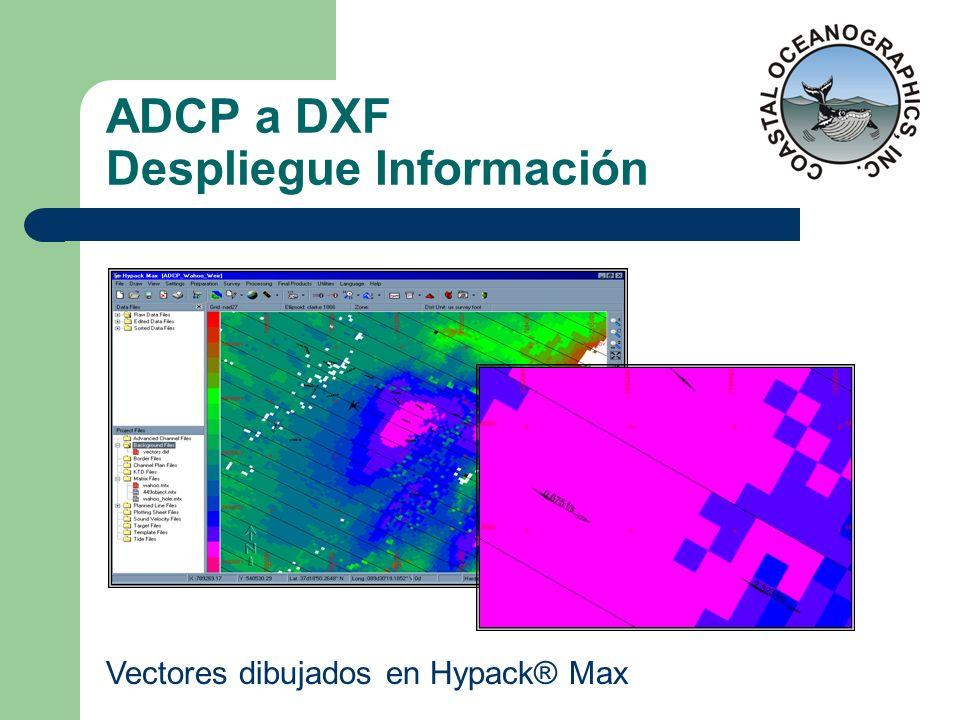 ADCP a DXF Despliegue Información