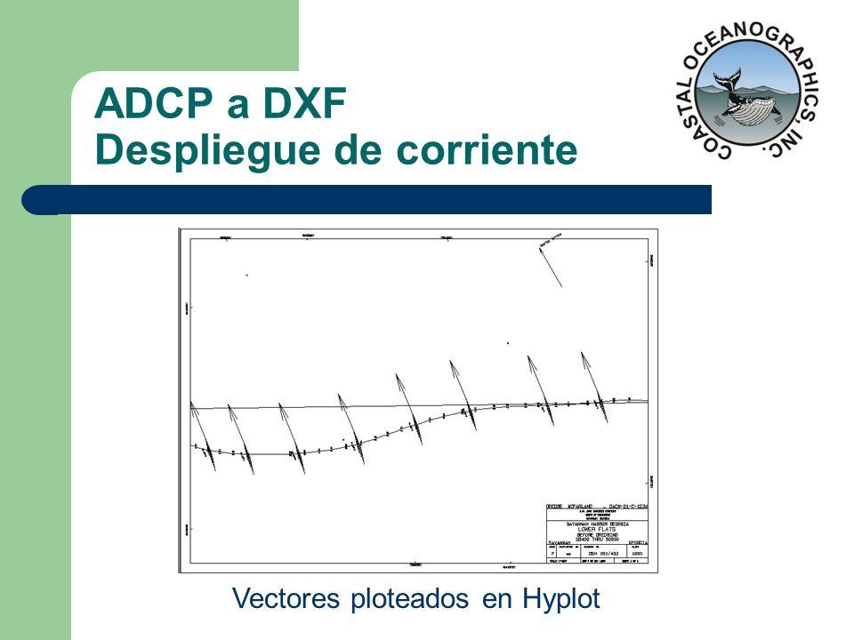 ADCP a DXF Despliegue de corriente