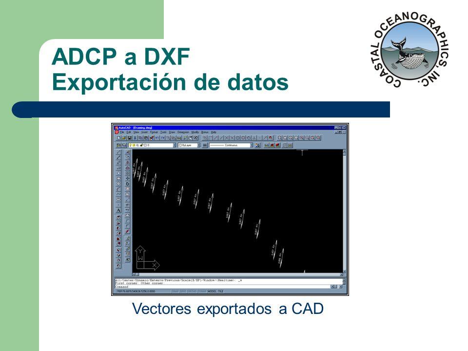 ADCP a DXF Exportación de datos
