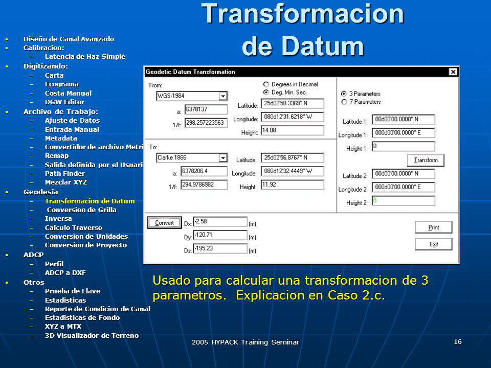 Transformacion de Datum