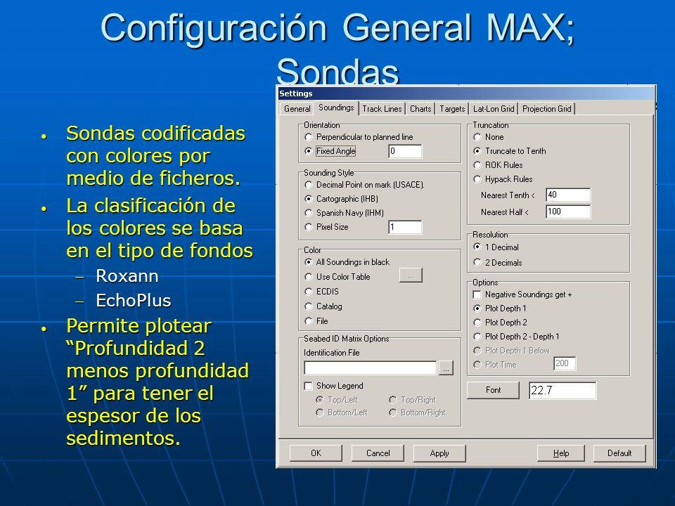 Configuración General MAX; Sondas