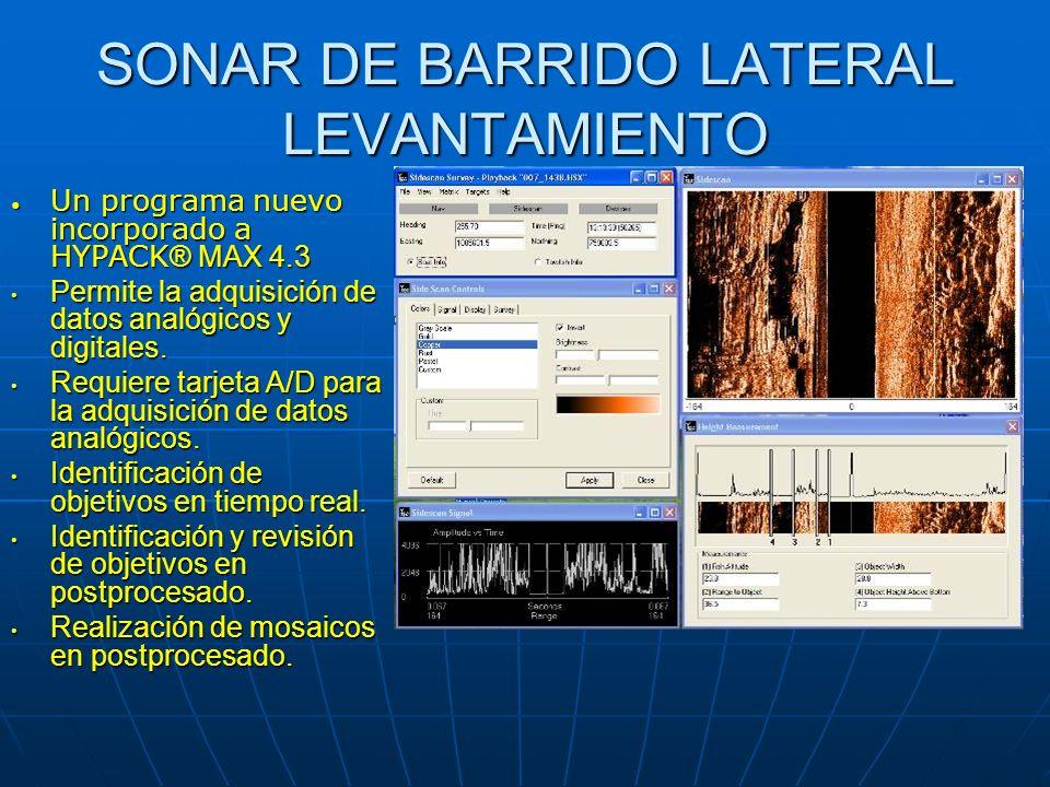 SONAR DE BARRIDO LATERAL LEVANTAMIENTO