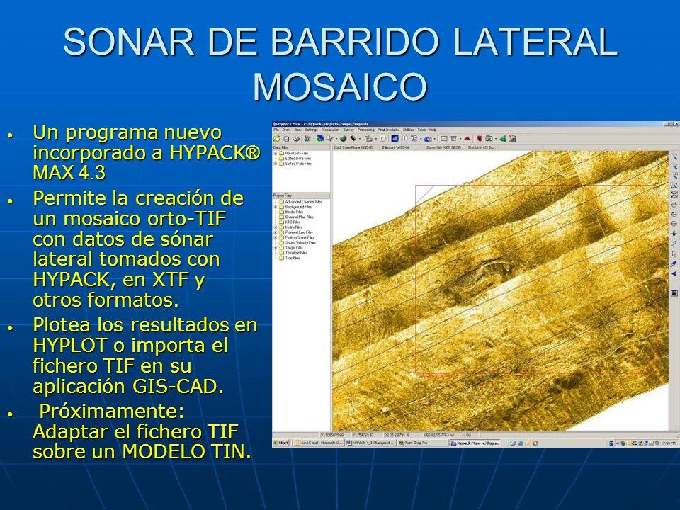 SONAR DE BARRIDO LATERAL MOSAICO