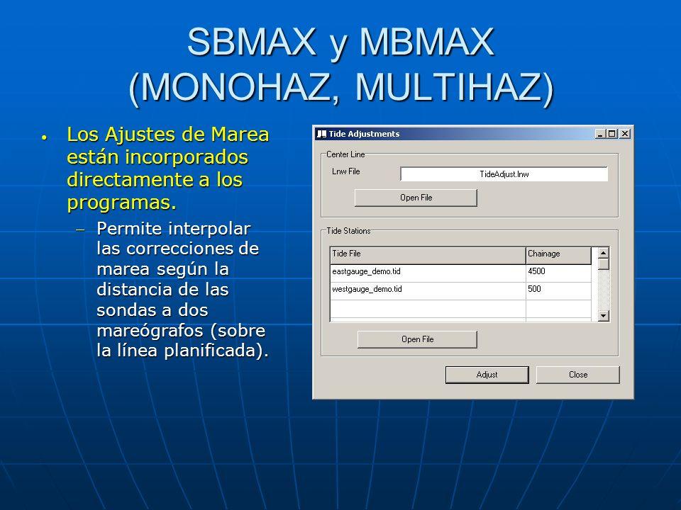 SBMAX y MBMAX (MONOHAZ, MULTIHAZ)