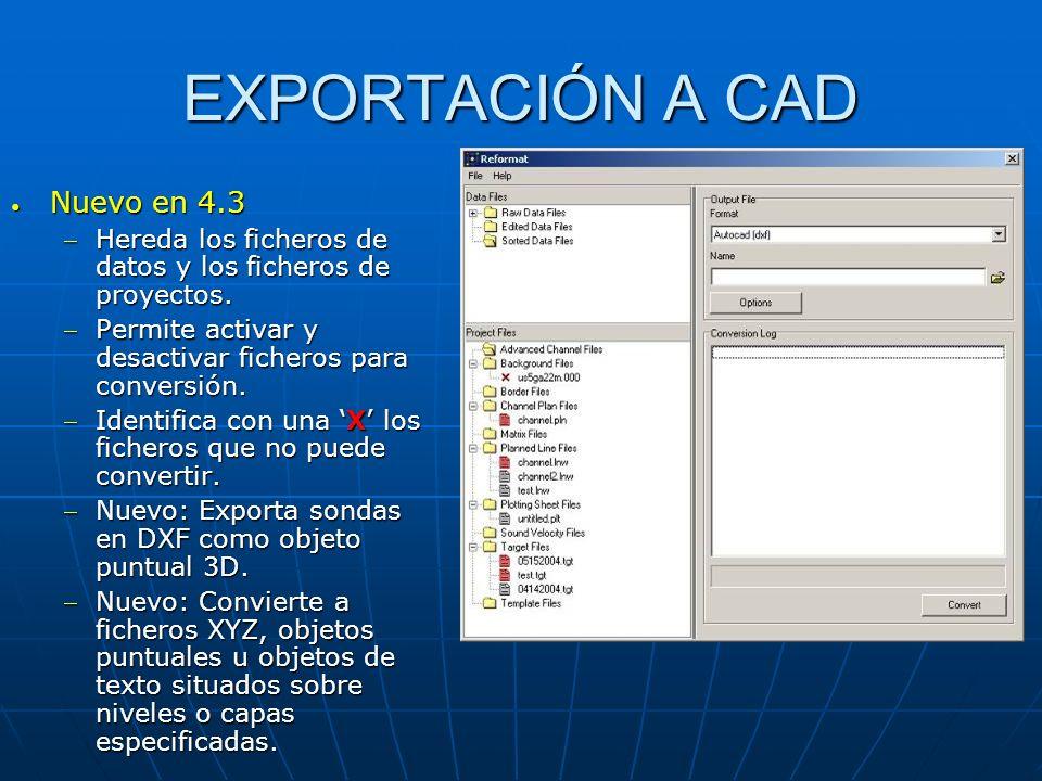 EXPORTACIÓN A CAD Nuevo en 4.3