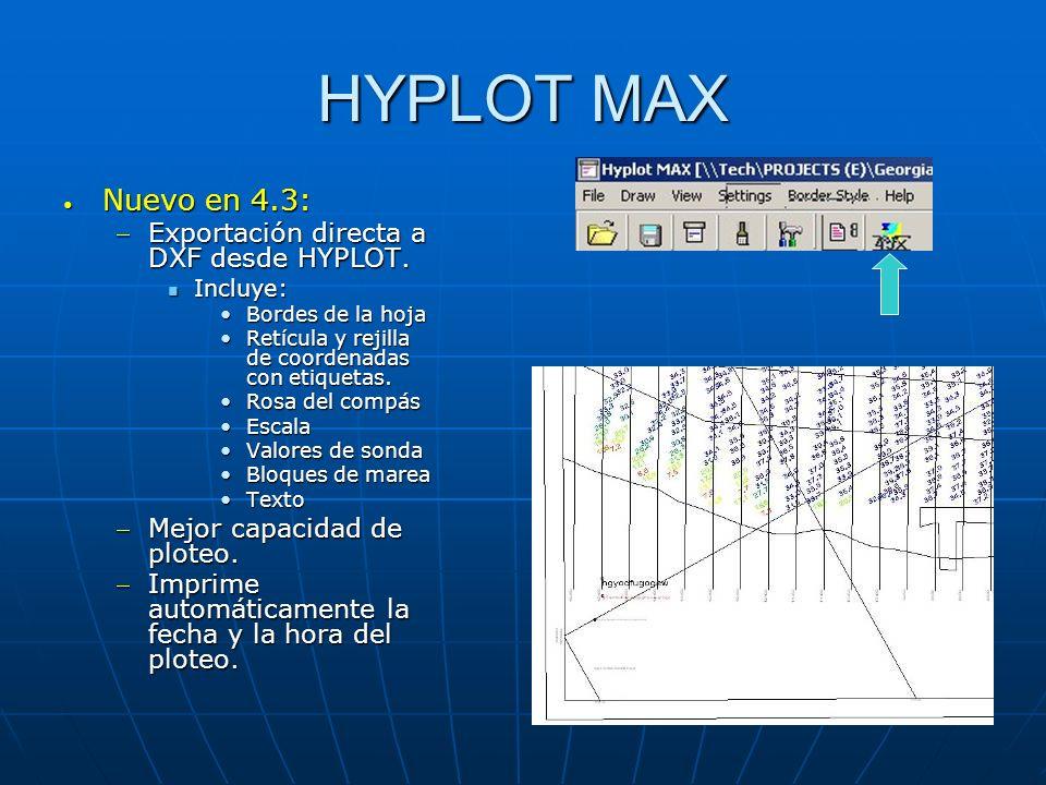 HYPLOT MAX Nuevo en 4.3: Exportación directa a DXF desde HYPLOT.