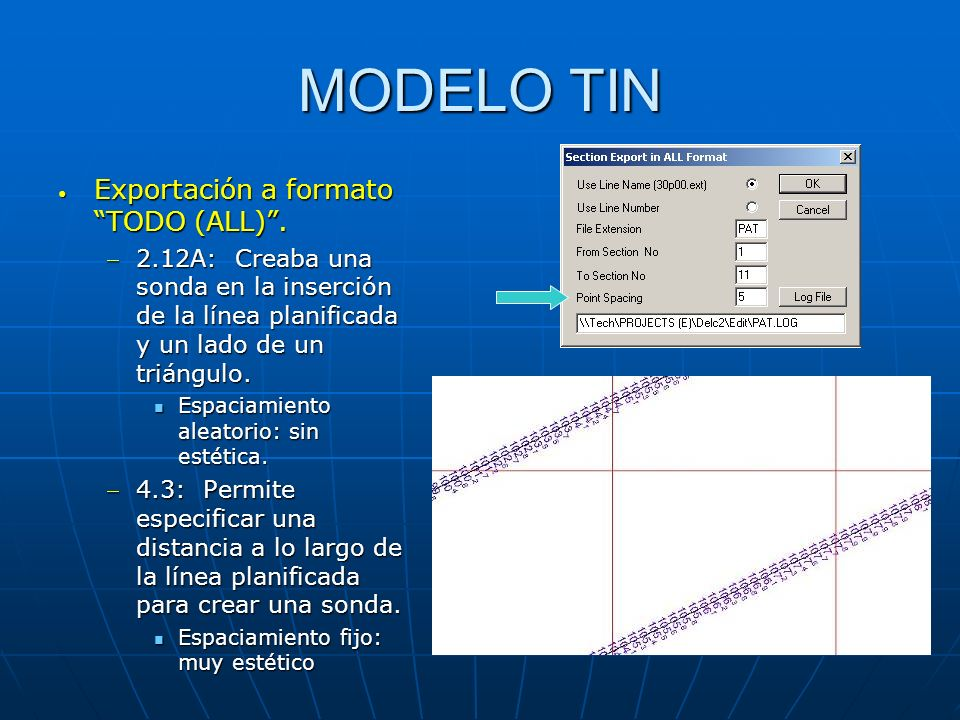 MODELO TIN Exportación a formato TODO (ALL) .