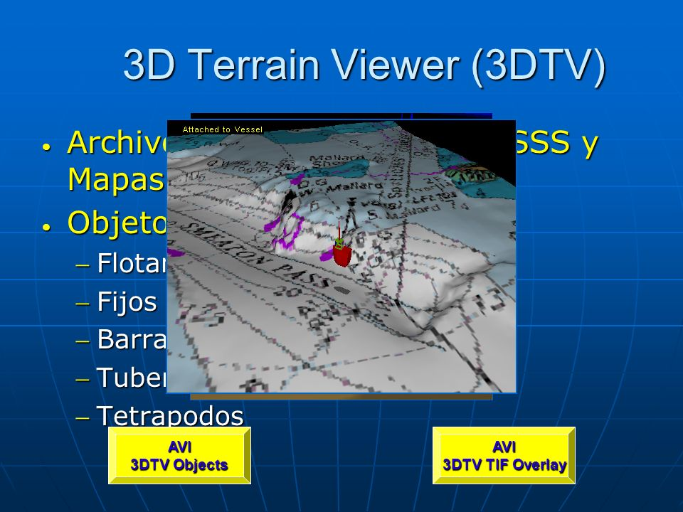 3D Terrain Viewer (3DTV) Archivos de cubrimientoTIF (SSS y Mapas)