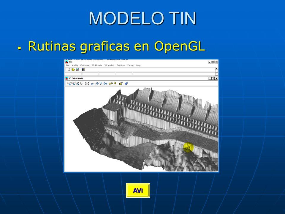 MODELO TIN Rutinas graficas en OpenGL AVI