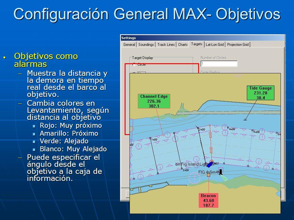 Configuración General MAX- Objetivos