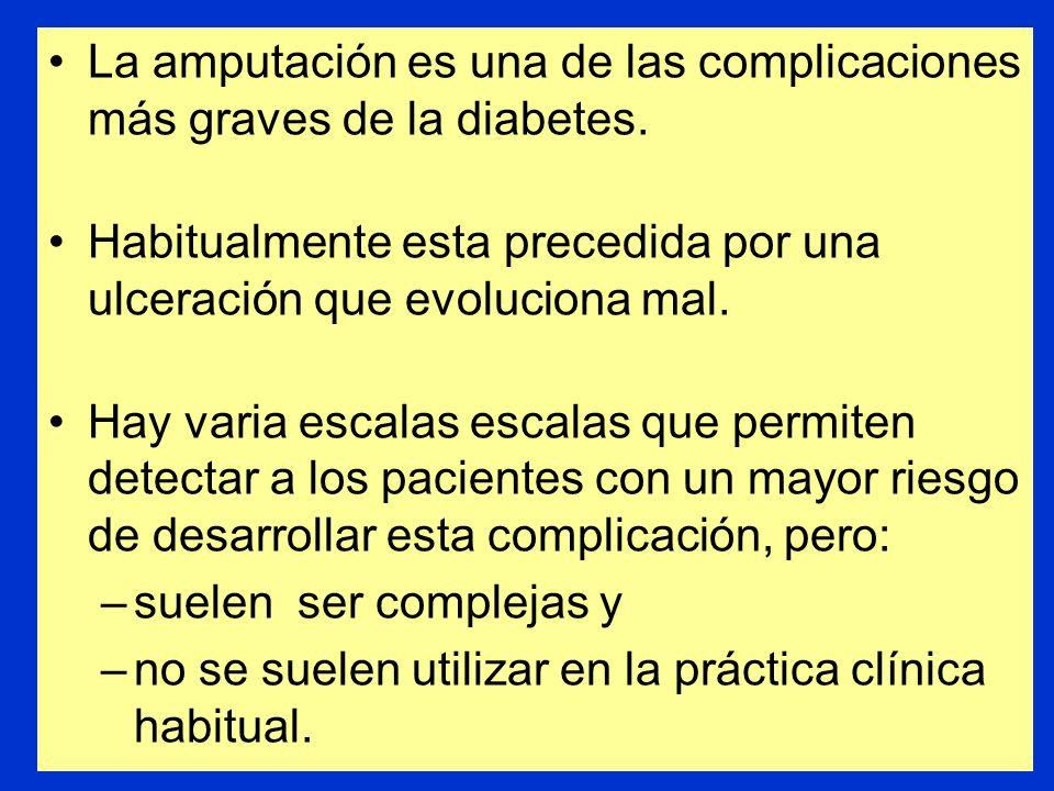 La amputación es una de las complicaciones más graves de la diabetes.