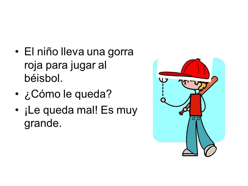 El niño lleva una gorra roja para jugar al béisbol.