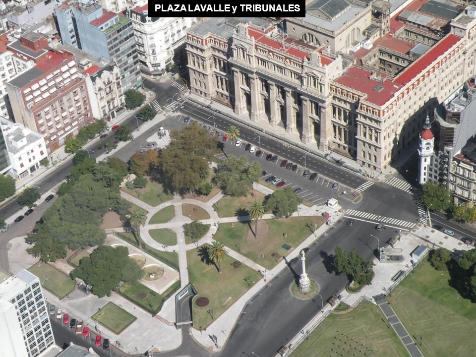 PLAZA LAVALLE y TRIBUNALES