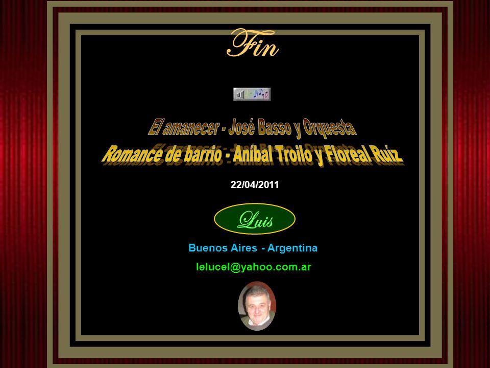 Fin El amanecer - José Basso y Orquesta