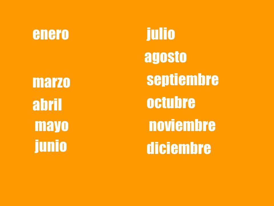 enero julio agosto septiembre marzo octubre abril mayo noviembre junio diciembre