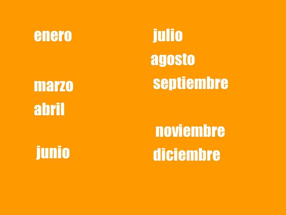 enero julio agosto septiembre marzo abril noviembre junio diciembre
