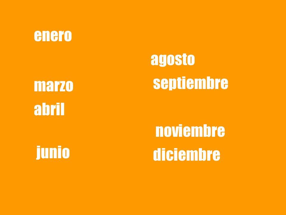 enero agosto septiembre marzo abril noviembre junio diciembre