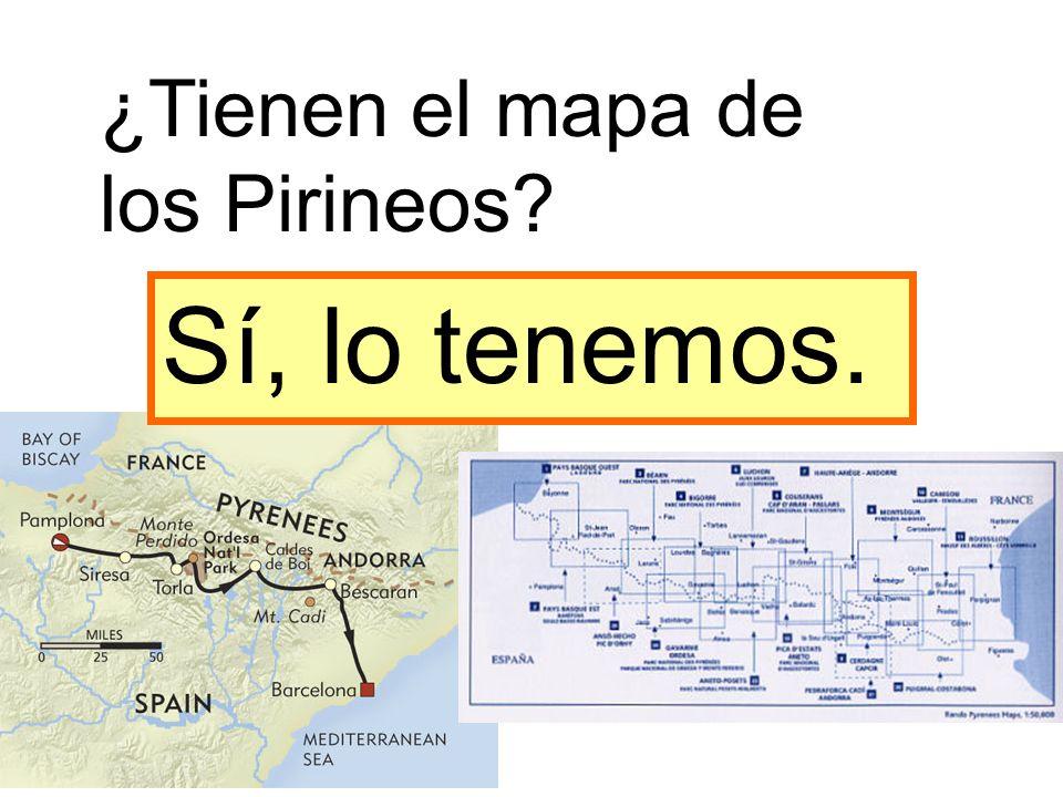 ¿Tienen el mapa de los Pirineos