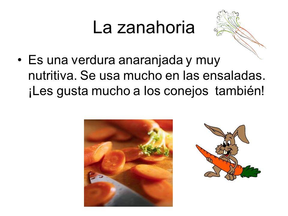 La zanahoria Es una verdura anaranjada y muy nutritiva.