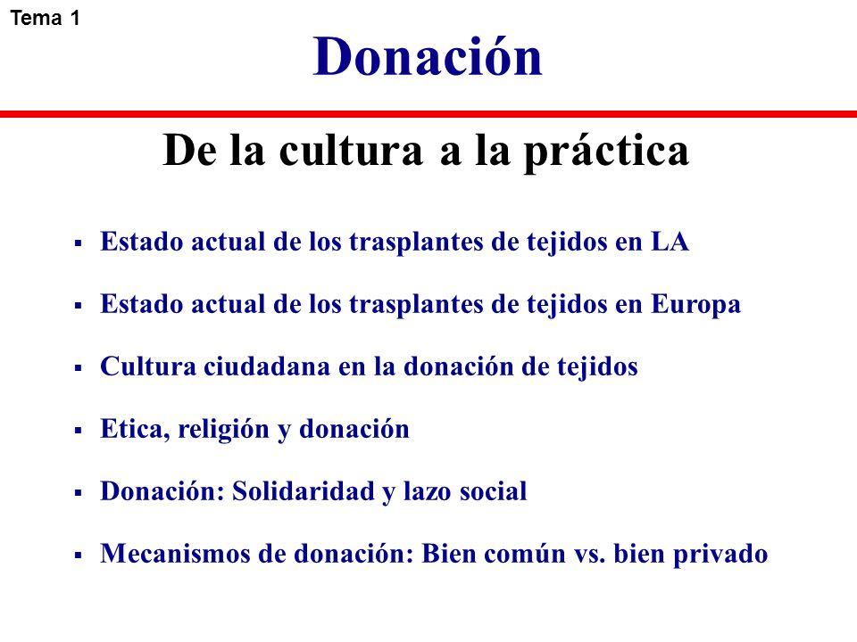 Donación De la cultura a la práctica