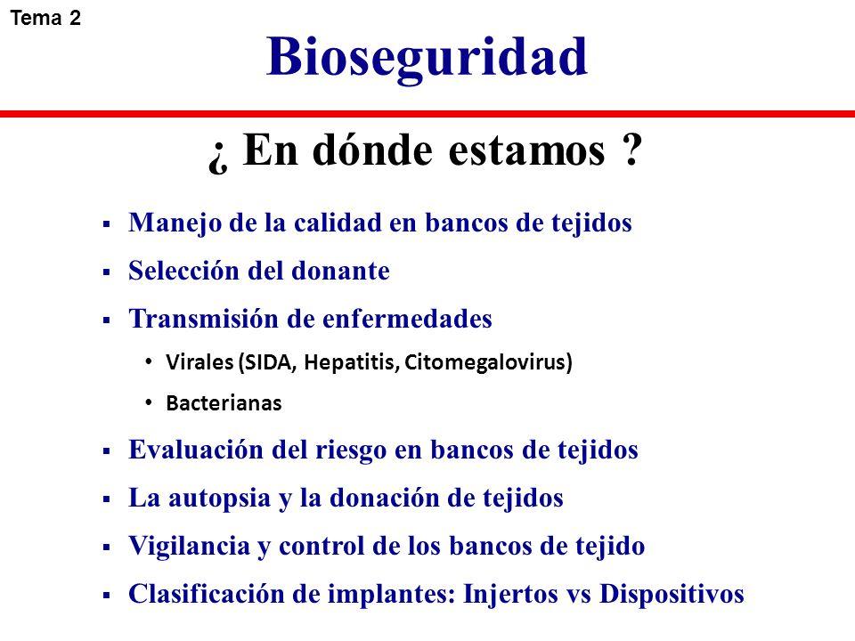 Bioseguridad ¿ En dónde estamos