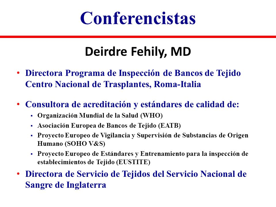 Conferencistas Deirdre Fehily, MD