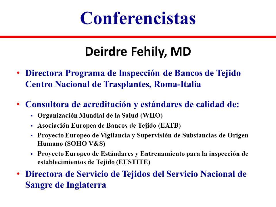 Conferencistas Deirdre Fehily, MD