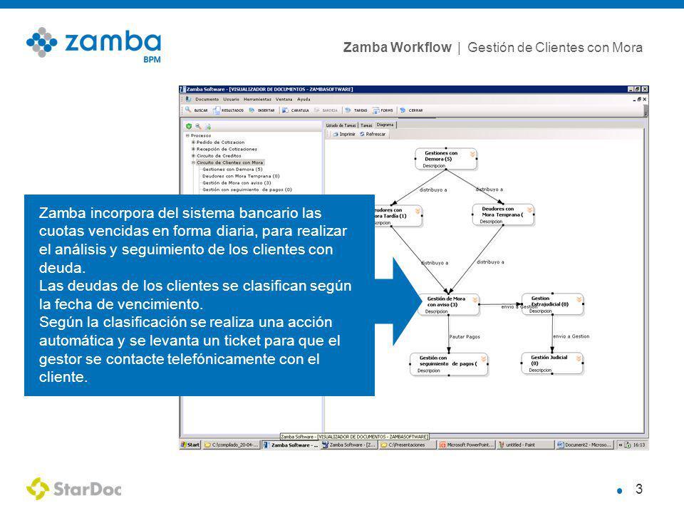 Zamba incorpora del sistema bancario las cuotas vencidas en forma diaria, para realizar el análisis y seguimiento de los clientes con deuda.
