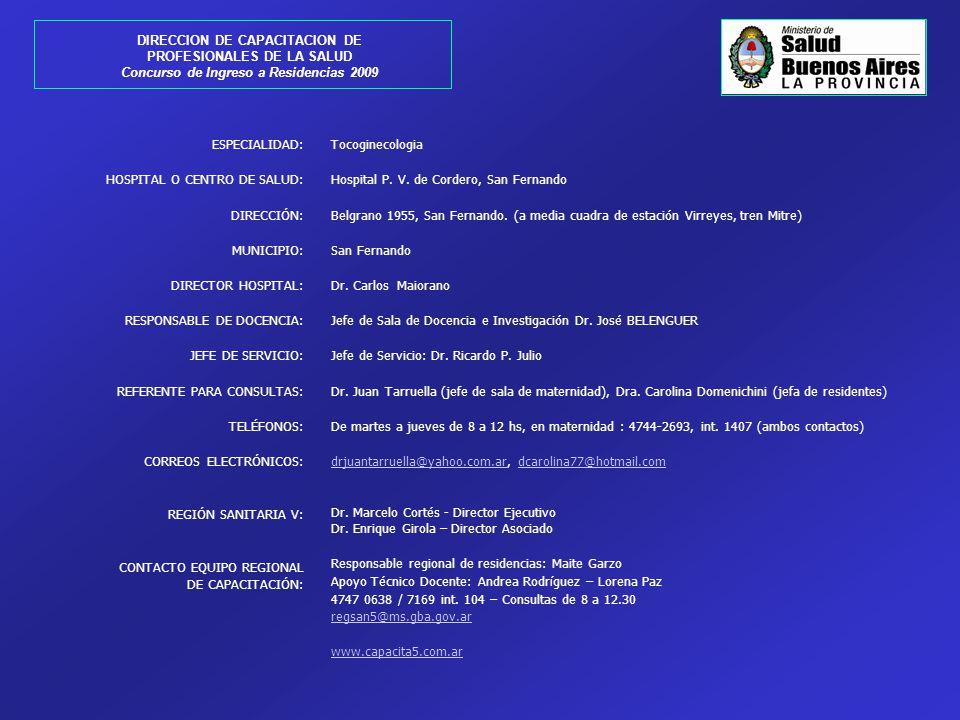 DIRECCION DE CAPACITACION DE PROFESIONALES DE LA SALUD