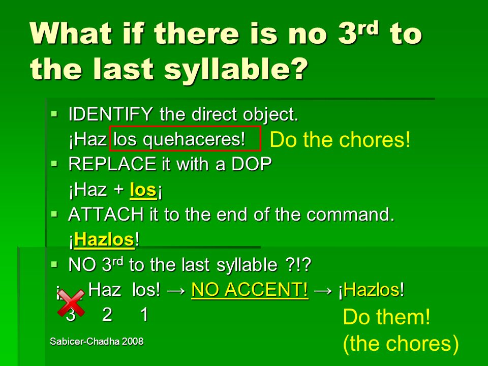What if there is no 3rd to the last syllable